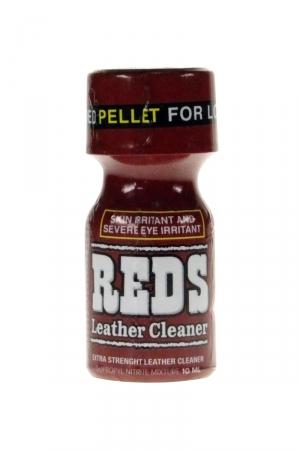 Poppers Reds 10 ml : Arôme aphrodisiaque anglais ultra fort à base de nitrite de propyle, avec bouchon Pellet sécurisé.