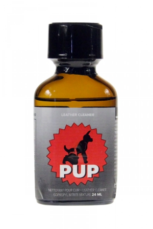 Poppers Pup 24 ml : A base de nitrite de propyle c'est le poppers idéal pour vos jeux de rôles Puppy et détendre au maximum votre chiot.