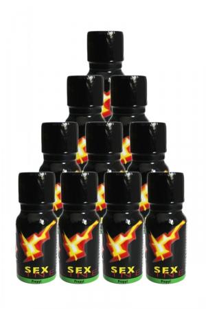 Poppers Sexline  (pack de 10) : SexLine, votre poppers de référence en lot de 10 flacons à prix exceptionnel!