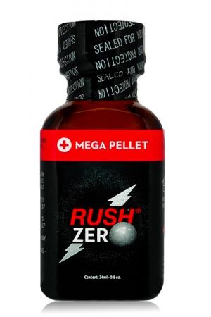 Poppers Rush  zero 24 ml : Poppers hybride Pentyle + propyle (24ml), des sensations hyper puissantes et fermeture type Mega Pellet.