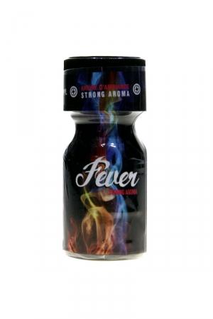 Poppers Fever 10ml : Arôme d'ambiance fort hybride, à base d'Amyle et de Propyle, en flacon de 10 ml, fabriqué en France par Jolt.