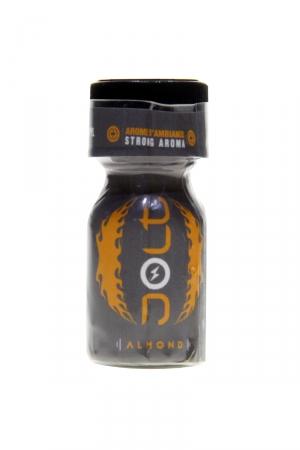 Poppers Jolt Silver Amande 10ml : Puissant arôme d'ambiance aphrodisiaque à l'odeur d'amande. Poppers made in France by Jolt, Nitrite de Propyle, flacon de 10 ml.