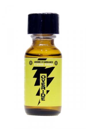 Poppers Overide 25ml : Un arôme aphrodisiaque français extra fort à base de propyle qui vous aidera à dépasser vos limites.