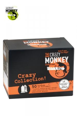 Assortiment 50 Préservatifs Crazy Monkey : Crazy Monkey présente sa crazy collection avec un assortiment de 50 préservatifs pour satisfaire toutes vos envies.