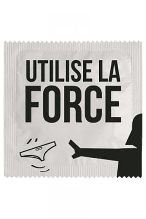 Préservatif humour - Utilise La Force : Préservatif Utilise La Force, un préservatif personnalisé humoristique de qualité, fabriqué en France, marque Callvin.