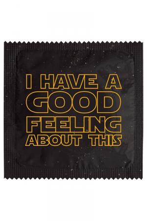 Préservatif humour - Good Feeling : Préservatif Good Feeling, un préservatif personnalisé humoristique de qualité, fabriqué en France, marque Callvin.