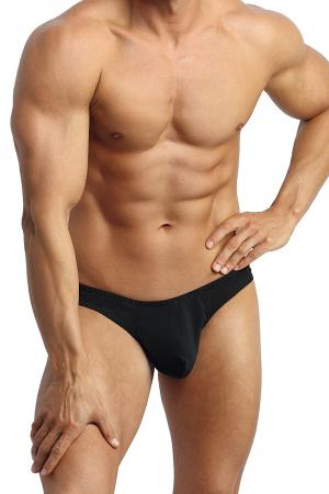 String Petrol - Anaïs for Men : Superbe string en tissu noir doux au toucher. Fabriqué en Europe.