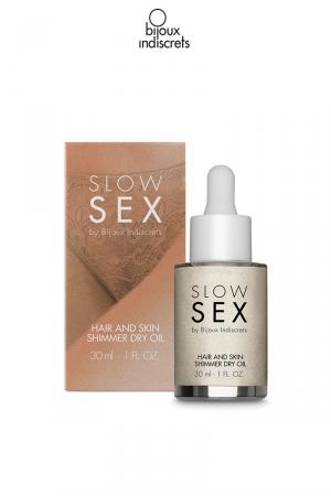 Huile sèche brillante cheuveux et corps - 30ml : Huile sèche à effet pailleté pour magnifier votre corps et vos cheveux.