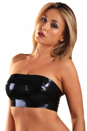 Top latex Sweatband : Top bandeau en latex de haute qualité.