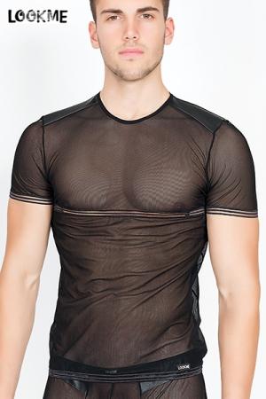 T-shirt Hunter : Le Tee-shirt dont rêvent tous les hommes fiers de leur corps : en résille 100% transparente.
