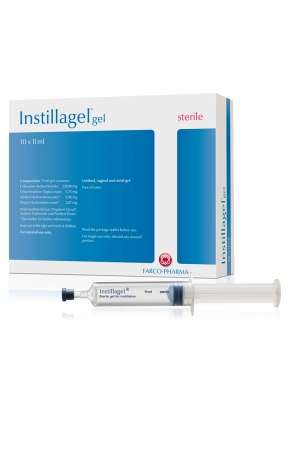 Box 10 seringues gel Instillagel : Boite complète contenant 10 seringues de gel stérile  pour la lubrification intime (urètre, vagin, rectum).