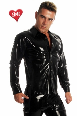 Chemise Rubber Shirt latex : Chemise en latex haute qualité, un classique revisité dans une matière d'exception.