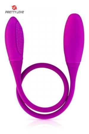 Sextoy pour couple Snaky vibe : Un double dong vibrant aux 2 extrémités, long et flexible pour de multiples plaisirs en solo ou en couple.