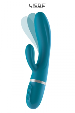 Vibro Rabbit flexible Bend It Plus - bleu : Vibro Rabbit haut de gamme couleur bleu, corps flexible pour mieux stimuler le point G, 10 modes de vibrations + 1 mode jouissif.