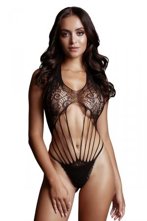 Body résille à lanières - Le Désir : Body sexy en résille fantaisie avec finition string et dos nu. Inspirons Le Désir.